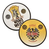 "35-40 Point 4"" Pulp Board Coaster - Round or Square (Offset Printed)"