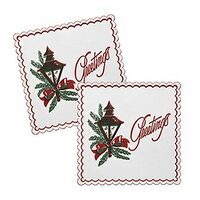 "Soft Embossed 7-Ply 4.25"" Square Tissue Coaster"