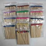 Custom 96mm (approx. 4 in.) Bulk Wooden Match Sticks - 40 ct. bags