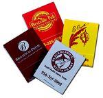 Custom Stock Color 20-Stem Matchbook (Red On Black)