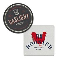 "80 Point 3.5"" Pulp Board Coaster - Round or Square (2 Mm Thick)"