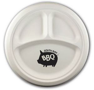 10 round 3 compartment eco friendly paper plate 3072 103 cp qs