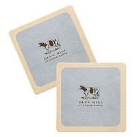 "35-40 Point 3.5"" Pulp Board Coaster - Round or Square"