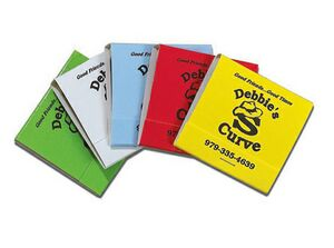 Stock Color 30-Stem Matchbook (Black On Assorted Colors)