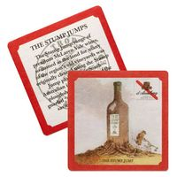"55-60 Point 3.5"" Pulp Board Coaster - Round or Square"