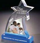 Custom Acrylic Shooting Star Embedment Award w/ Base