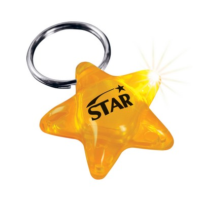 Molded Key Ring LED Light (Star)
