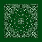 Economic Imported Blank Forest Green Paisley Bandanna