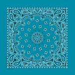 Imported Blank Turquoise Paisley Bandanna