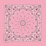 USA Made Blank Light Pink Paisley Bandanna