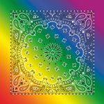 Imported Rainbow Paisley Bandanna