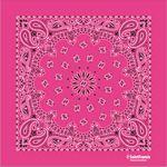 USA Made Hot Pink Paisley Bandanna
