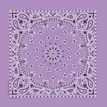 Imported Blank Lavender Paisley Bandanna
