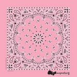 Imported Light Pink Paisley Bandanna
