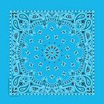 USA Made Blank Light Blue Paisley Bandanna