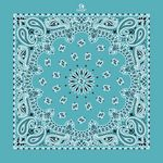 USA Made Turquoise Blue Paisley Bandanna