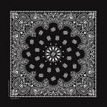 USA Made Blank Black Paisley Bandanna