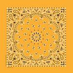 USA Made Blank Gold Paisley Bandanna