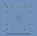 USA Made Chambray Blue Paisley Bandanna