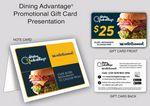 Custom Dining Advantage Savings Gift Card