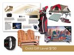 Custom $750 Gift of Choice Gold Level Gift Booklet