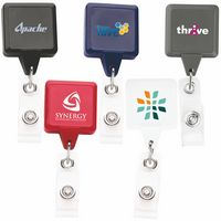 Best Square Retractable Badge Reel w/ Alligator Clip (Chroma Digital Direct)