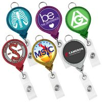 JUMBO Round Glitter Badge Reel (Label)