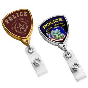 Metallic Finish Shield Badge Reel (Polydome)