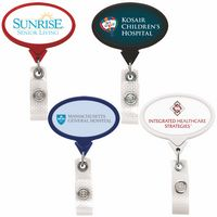 Jumbo Anti-Microbial Oval Retractable Badge Reel (Label Only)