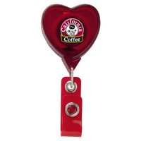 Jumbo Heart Retractable Badge Reel (Chroma Digital Direct Print)