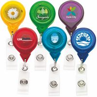 Best Translucent Round Retractable Badge Reel w/ Alligator Clip (CHROMA)