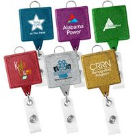 JUMBO Square Glitter Badge Reel (Chroma)