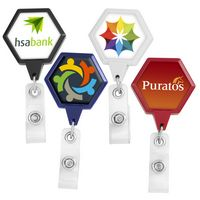 JUMBO Hexagon Badge Reel (Label Only)