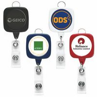 Jumbo Sqround Retractable Badge Reel (Label Only)