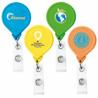 Jumbo Neon Round Retractable Badge Reel (Chroma Digital Direct Print)