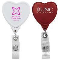 Jumbo Anti-Microbial Heart Retractable Badge Reel (Chroma Digital Direct)