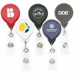 Custom Best Round Retractable Badge Reel w/ Alligator Clip (Chroma Digital Direct)