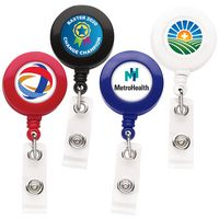 Good Round Retractable Badge Reel (Polydome)