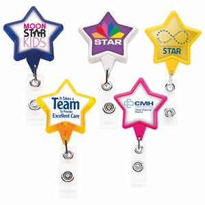 Star Retractable Badge Reel (Polydome)