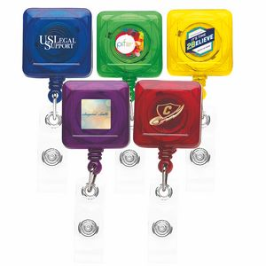 Better Translucent Square Retractable Badge Reel (Chroma Digital Direct)