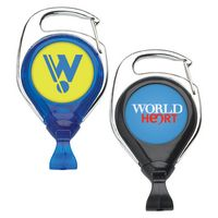 No Twist Carabiner Retractable Badge Reel (Polydome)