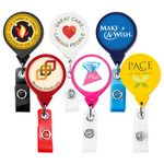 Custom Jumbo Round Retractable Badge Reel (Polydome)