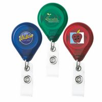 D-Bak Retractable Badge Reel - Translucent (Chroma Digital Direct Print)
