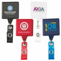 Jumbo Square Retractable Badge Reel w/ Belt Clip (Chroma Digital Direct)