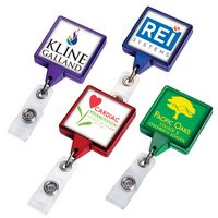 Color Chrome JUMBO Square Badge Reel (Label)