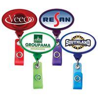Jumbo Oval Retractable Badge Reel (Polydome)