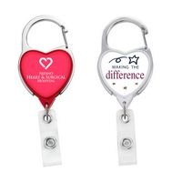 JUMBO Heart Carabiner Badge Reel - DOME