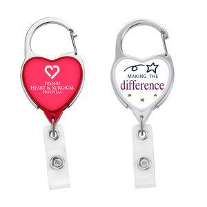 JUMBO Heart Carabiner Badge Reel - DOME