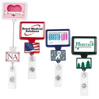 Double Up Rectangle Retractable Badge Reel (Polydome)