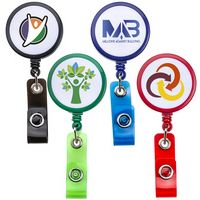 White Face Badge Reel (Chroma Digital Direct Print)
